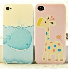 Image of [gryxh310004921]lovely deer Whales giraffe case for iphone 4/4s/5