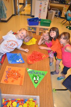 A Place Called Kindergarten: math center for sorting shapes!