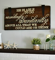 """""""He is Able"""" Wood Sign {customizable} - Aimee Weaver Designs"""