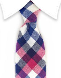 Blue & Pink Cotton Tie