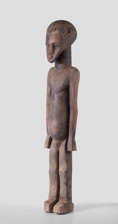 A Lobi sculptue of Dah Bimtiote, Bouna region, Ivory Coast, search www.wolfgang-jaenicke.blogspot.com