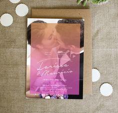 Convite de Casamento Kiss(c/ foto)p/imp.