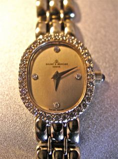 BAUME and  MERCIER Ladies Diamond  Solid 14kt Gold by mrmartman, $2495.00