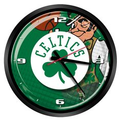 "NBA Boston Celtics 15"" Glass Clock"