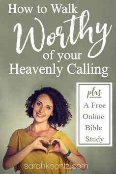 Do you ever feel unworthy of God's call on your life? Do you long to grow in your Christian faith, yet struggle to find the right place to start? I've got great news for you!  This 31-day study on the book of Ephesians was created for busy women just like you. All you need to complete the study  is 15-minutes per day and your iPhone. | Free Online Bible Study for Women | Christian Inspiration | Tips and Ideas for Studying Gods Word | Free Printables  via @sarahelizkoontz