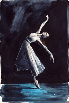 SALE - Ballerina White Swan Lake Ballet Dancer - ORIGINAL Watercolor 6 x 9 - The Red Shoes Black Swan Natalie Portman Odile Odette on Etsy, $27.93 CAD