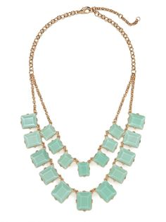 Double strand statement necklace