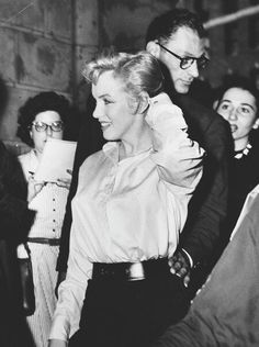 Marilyn Monroe and Arthur Miller photographed in 1956.