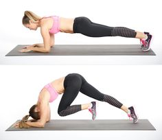 Plank is one of those moves that should be in every solid fitness routine. The knee driver works on the same principle as plank but is even more challenging. A great move for the shoulders and abs!