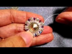 Seed Beaded Crystal Rivoli with bicone beads - YouTube
