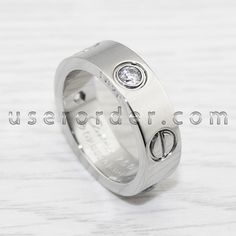 Cartier Love Ring, Rings Online, White Gold Rings, Wedding Rings, Valentines, Engagement Rings, Stuff To Buy, Jewelry, Valentine's Day Diy
