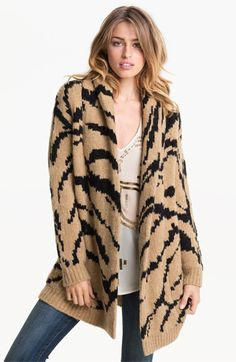 Juicy Couture Tiger Knit Cardigan available at #Nordstrom - So comfortable