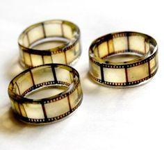 Old film negative rings.