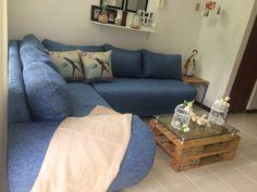 sala esquinero con mesa de #estibas #palets #nelsones