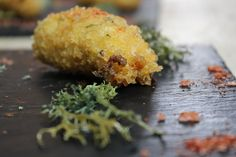 River Cottage - Wild mushroom croquette with fried oak moss