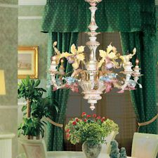 Capodimonte Mother of Pearl Chandelier 6 Light (New)