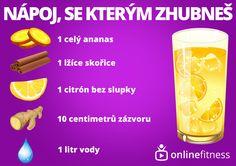 Zázračný nápoj, který spaluje tuk v oblasti břicha Blog Online, Smoothies, Food And Drink, Workout, Drinks, Fitness, Czech Republic, Smoothie, Drinking