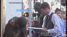 'Waiter' Delivers Food to Surprised Homeless People