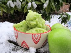 Green Apple sorbet (pure, fresh and fruity)