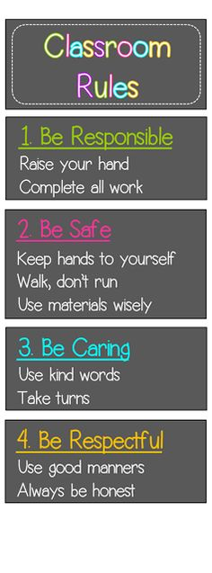 Minimalist Classroom Rules : Use this free fist to five poster introduce a quick