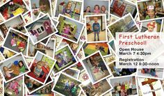 First Lutheran Preschool open house, this Thursday, 4:30-5:30pm! Check out our great Christian education!