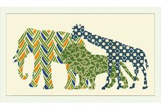 Elephant, Lion, Giraffe on OneKingsLane.com