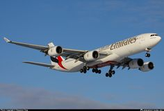 Emirates Airlines:A340-541:A6-ERJ @ Moscow - Dmodedovo(DME / UUDD)airport,Russian Federation on 05.Jan.2012.