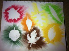 Ceres de colors i fulles com a plantilles