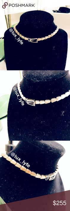 """Uno De 50 Black """"Glamatic"""" Beaded Choker Necklace Uno De 50 Black """"Glamatic"""" Beaded Choker Necklace  ***Please note there is slight discoloration of the Silver beading - Pictured*** UNOde50 Jewelry Necklaces"""
