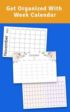 Get this template now to start using Week Calendar template with your binder or digital planner. Get it now in PDF format and enjoy professionally-designed template. Organize your tasks easily with a separate printout or as a part of your binder or digital planner. #calendar #weekly #blank #week #2021