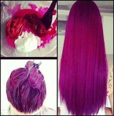 Vibrant magenta and purple strait