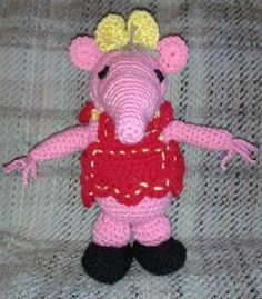 Tiny clanger is completely crocheted.