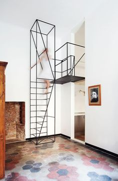 insanely thin staircase by Francesco Librizzi.  real life wireframe