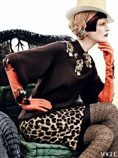Stella Tennant by Mario Testino for Vogue