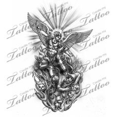 michael the archangel tattoo designs | Share This Tattoo Design 11 95 Saint Michael Archangel