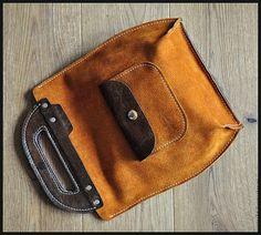 Простая авосечка 8) - разноцветный,комбинированная кожа,сумка ручной работы