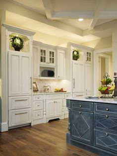 highlight the silhouette of a cabinet with undercabinet and in cabinet lighting i above cabinet lighting