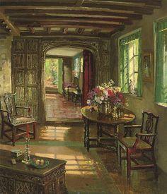 Herbert Davis Richter - A Sunlit Interior +