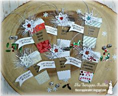 Christmas Tags, Coffee tags, Jaded Blossom, The Scrappin Rabbit