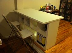 IKEA Hackers: Expedit Breakfast bar / Desk