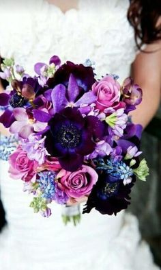 flowers, wedding, and purple afbeelding