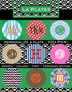 Great site to design your own plates, coasters, cutting boards etc.  Very preppy.