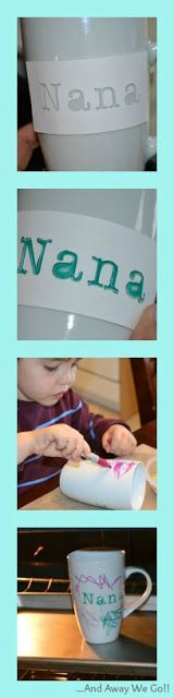 Mothers Day: Homemade Sharpie Mug Gift Idea. (I would make for nana and papa)