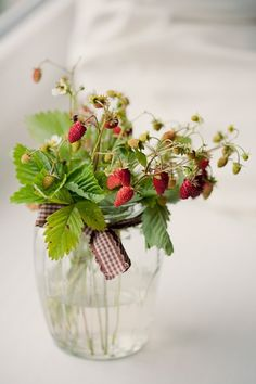 simple jar and sweet berries