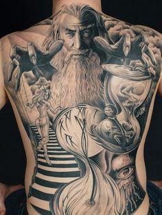 Amazing back piece tattoo