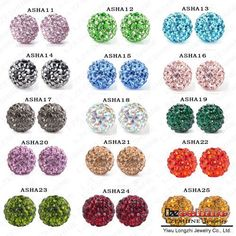 Fashion Accessories Disco Balls Shamballa Bracelet Beads 10mm AB Clay Crystal Ball Shamballa Balls/Beads
