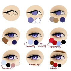Eye Drawing Tutorials, Digital Painting Tutorials, Digital Art Tutorial, Art Tutorials, Digital Drawing Tablet, Eye Illustration, Eyes Artwork, Poses References, Coloring Tutorial