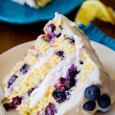 Lemon Blueberry Layer Cake - I have made this several times and it's absolutely amazing...definite must try!!