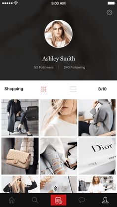 Profile album selected Android Design, Mobile Ui Design, Ui Ux Design, Mobile App Ui, Mobile Web, App Design Inspiration, User Experience Design, Application Design, Album Design