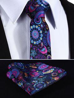 "TP816V7 Navy Blue Pink Paisley 2.75"" 100%Silk Jacquard Slim Skinny Narrow Men Tie Necktie Handkerchief Pocket Square Suit Set(China (Mainland))"
